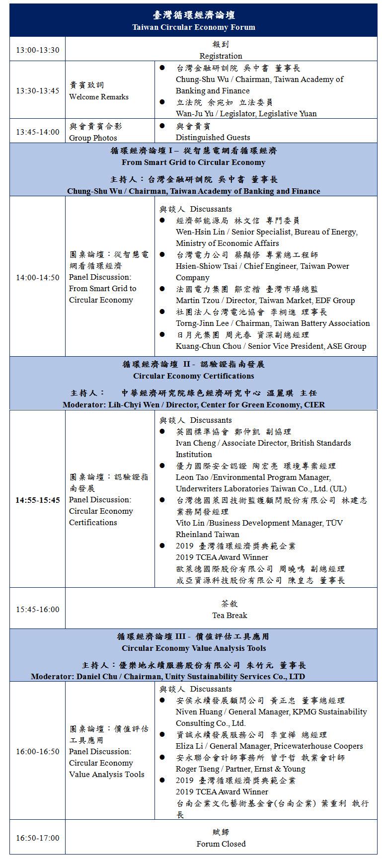 標題-永續城市-臺灣循環經濟論壇議程